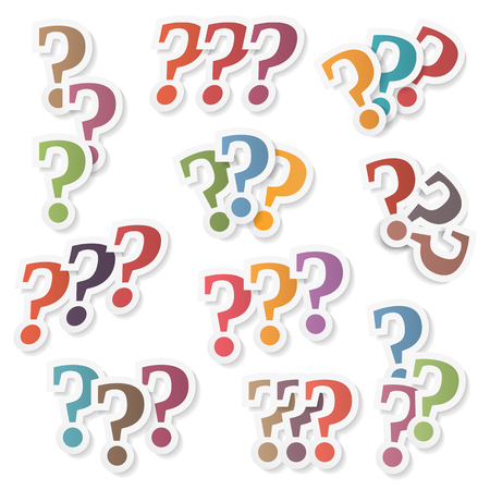 Colored question marks Vettoriali