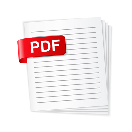 PDF ファイルのアイコン  イラスト・ベクター素材