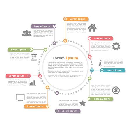 diagrama de procesos: Círculo Infografía Vectores