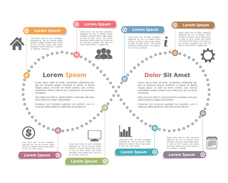timeline: Design template with infinity shape Illustration