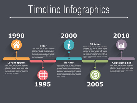 Timeline Infographics ontwerp sjabloon Stock Illustratie