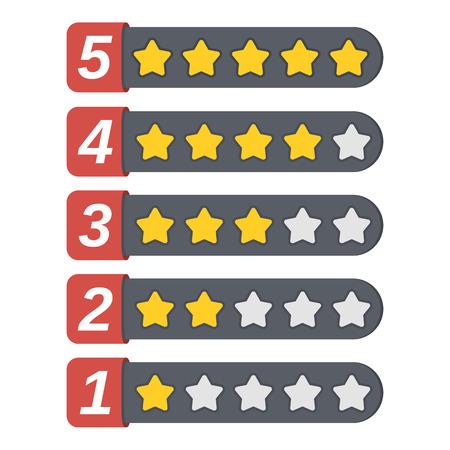 rating: Rating stars Illustration