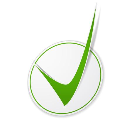 approvement: Green check mark symbol