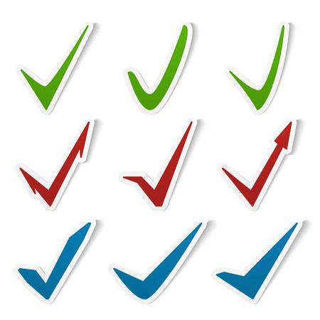 approvement: Check marks symbols set