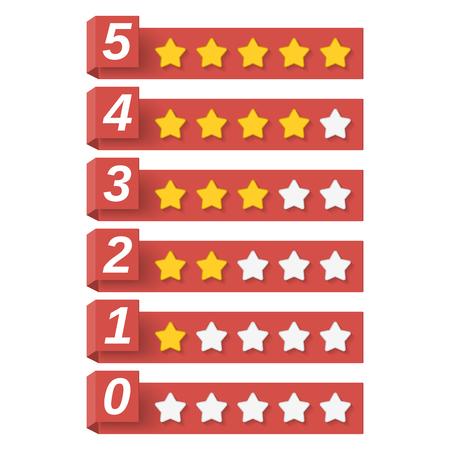 rank: Rating Stars Illustration