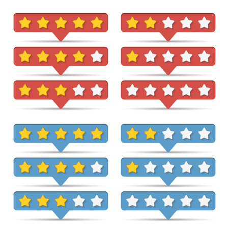 five star: Rating stars for web
