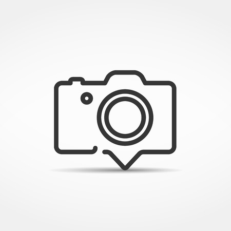 Camera icon or emblem, design element for your logo