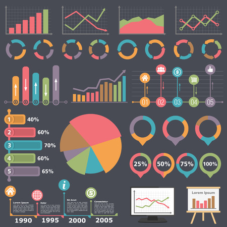 Zakelijke Infographic Elementen Stockfoto - 40060680