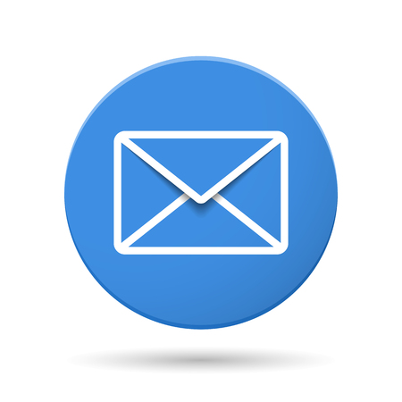 envelope icon: Blue circle with envelope icon
