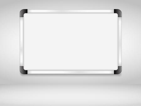 壁面にホワイト ボード ベクトル eps10 イラスト