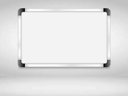 Whiteboard on the wall, vector eps10 illustration