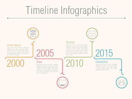 Minimal tijdlijn infographics design template, vector eps10