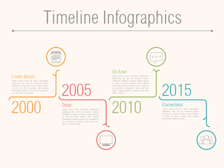 Minimal timeline infographics design template, vector eps10 illustration