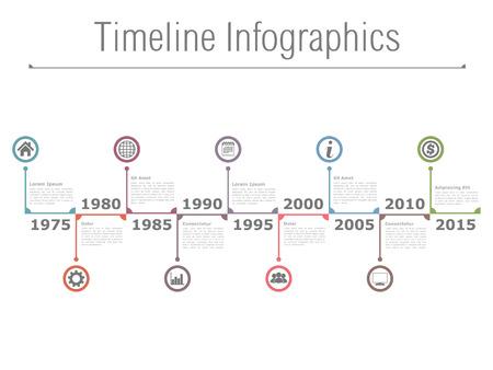 Horizontale tijdlijn infographics Stockfoto - 41674630