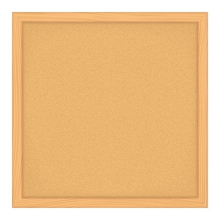 bulletin: Empty bulletin board on white background