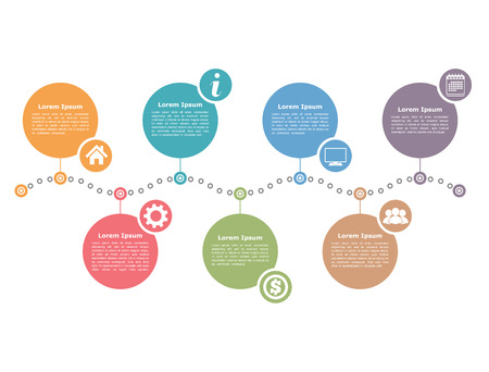processes: Timeline infographics design template Illustration