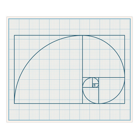 ratio: Graph paper with golden section Illustration