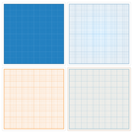 construction projects: Square graph papers set Illustration