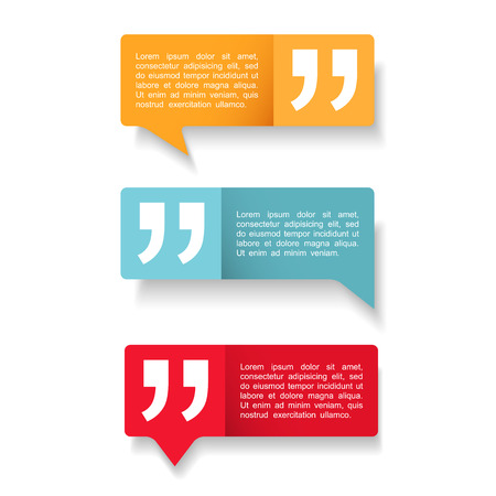 Speech Bubbles met citaten icoon