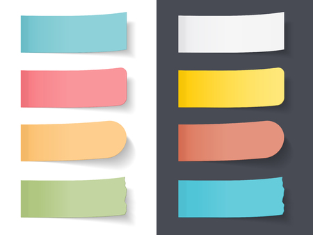 sticky: Set of blank colored sticky papers