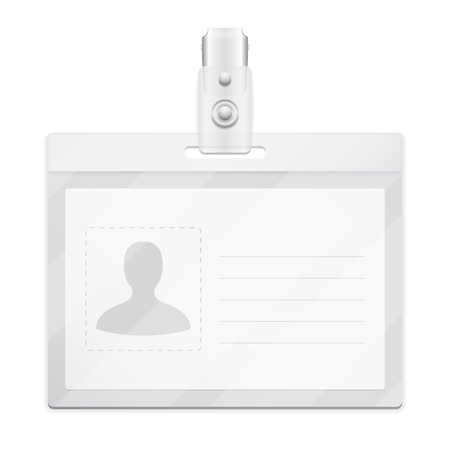 badge holder: Blank horizontal identification card or name tag