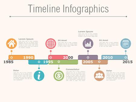 horizontal line: Timeline infographics design template Illustration