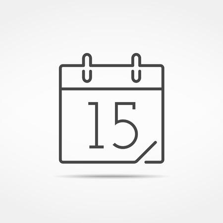 抽象的なカレンダー アイコン、線のスタイル