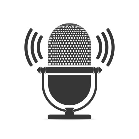 blogs: Microphone icon, white background