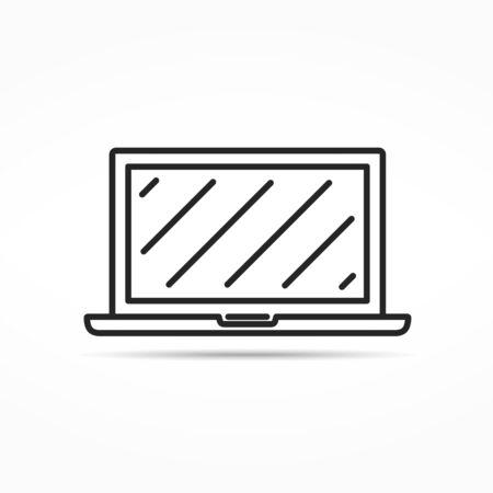 minimal: Laptop minimal line icon Illustration