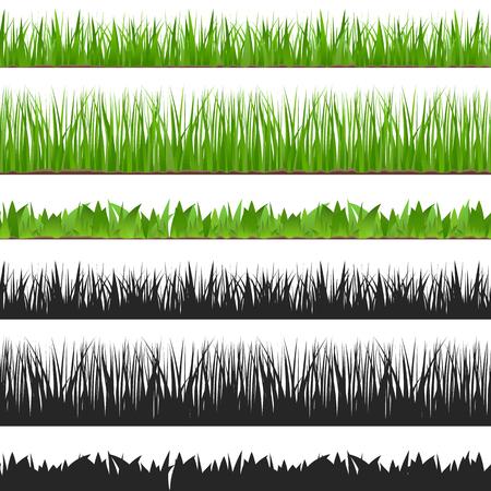Naadloze gras en het silhouet