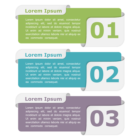 Infographic design elements with place for titles and numbers