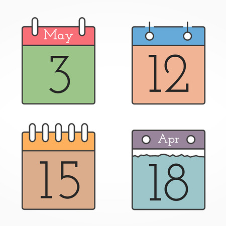 calendar icons: Calendar Icons Illustration
