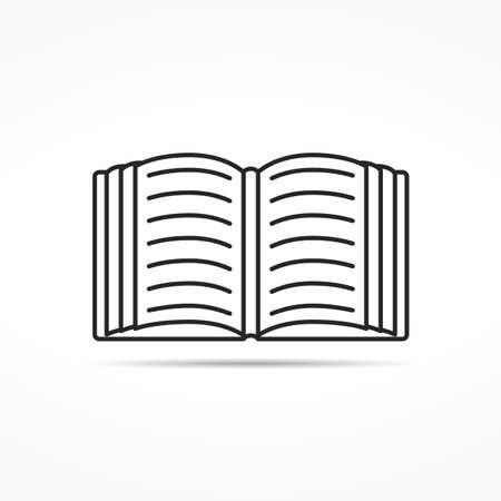 open magazine: Open book or magazine minimal line icon