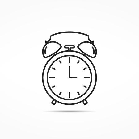 Icône d'alarme de ligne d'horloge Banque d'images - 47841179