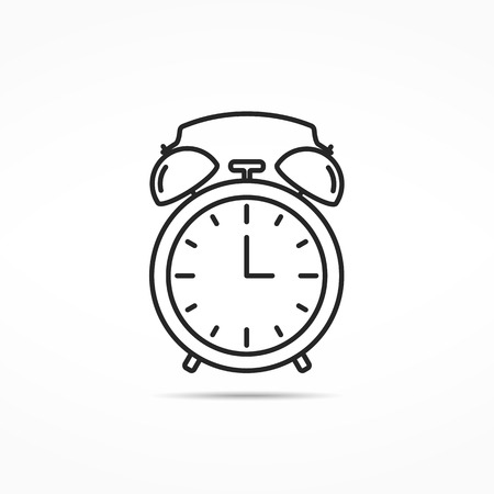 Alarm clock line icon Illustration