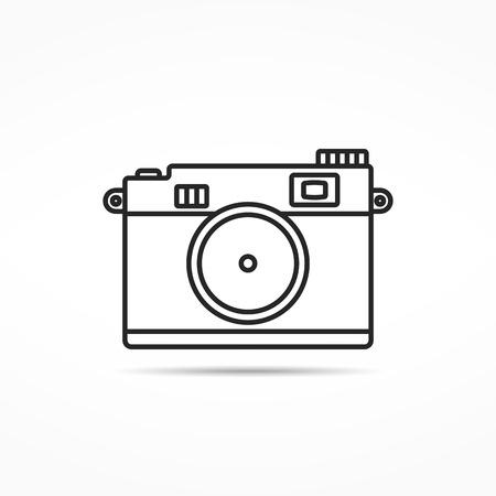 photo icon: Retro photo camera line icon