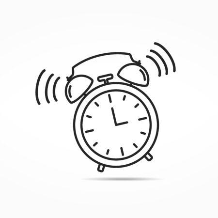 watch movement: Alarm clock line icon Illustration