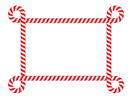 candy stripe: Frame made of redwhite striped candy cane