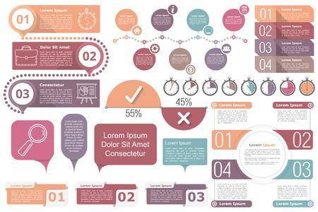 diagrama procesos: Colección de los elementos de Infografía Vectores