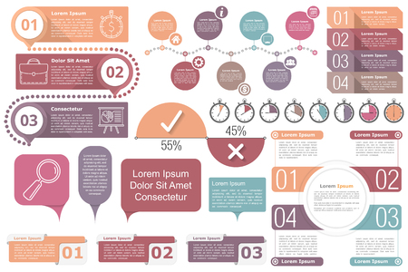 number 4: Infographic elements collection