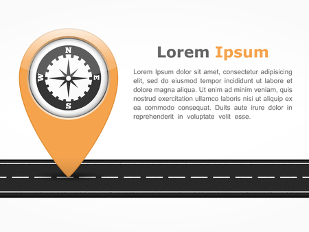 tarmac: Asphalt road with orange pointer