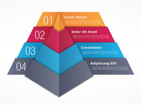 cuatro elementos: Carta de la pirámide con cuatro elementos