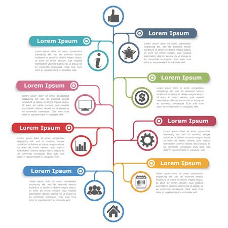 Tree diagram infographics