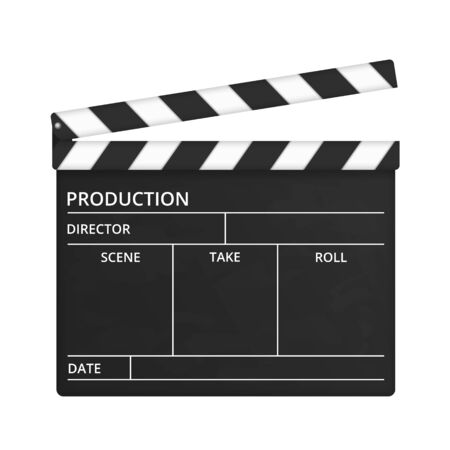 clap: Clapper Board Illustration