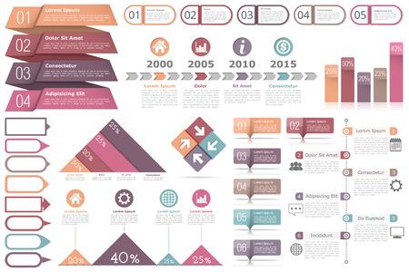 diagrama procesos: Elementos de Infographic