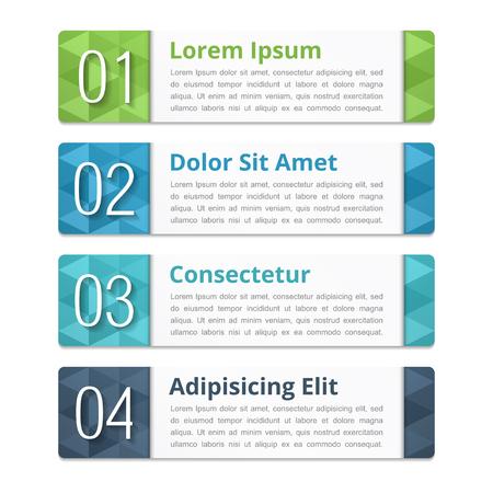 Design-Elemente mit Zahlen und Text Vektorgrafik