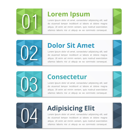 titles: Design elements with numbers and text Illustration