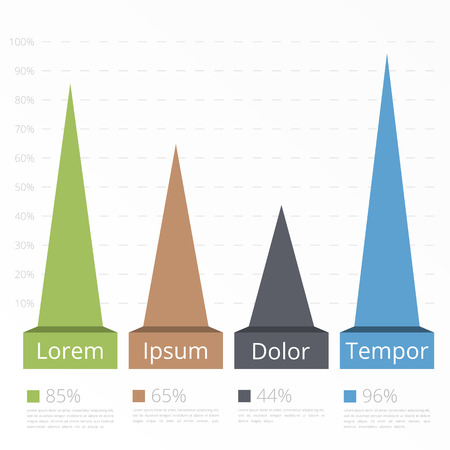 bar graph: Bar graph template with triangles