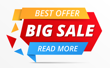 Big sale banner, best offer