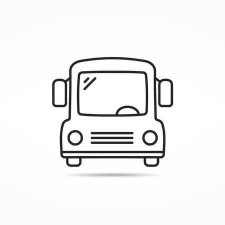 sign road: School bus line icon